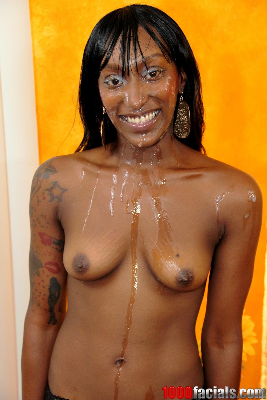 Фото негритянка вся в сперме 10 фотография