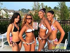 Busty Ebony Teen Gfs!