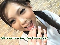 Mimi teen Chinese girl give a blowjob