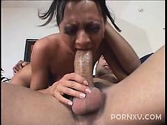 Sexy pornstar Sandra Romain opens this intense fuck by