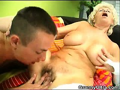 dick blowing granny get her twat licked