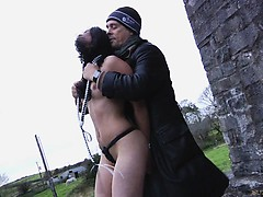 Four slaves punished in a desert castle