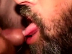 Hairy Mature Bear Gets Mouthful Of Cum