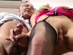 Classy Blonde Fucked By Old Man