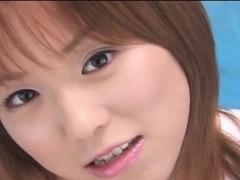 Subtitled POV Japanese virtual dildo handjob simulation