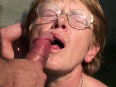 ugly granny takes sticky facial granny sex movies