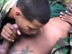 uniformed-twinks-munching-on-army-meat