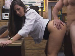 well-dressed-brunette-banged-in-the-back-of-pawn-shop