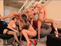 kurt lockwood gets eva notty, kinky vanessa and tara holiday
