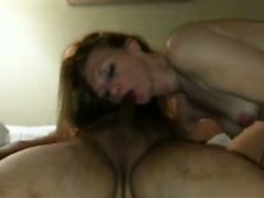 Dian rides my cock with her asshole