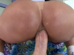 Big juggs mature ho Tiffany Mynx throated and anal banged