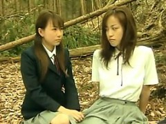 horny-asian-lesbians-outside-in-the-forest