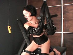 Sex Slave Fucked By A Sex Machine In Chains