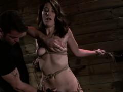 Bondage Slave Pussy Toyed