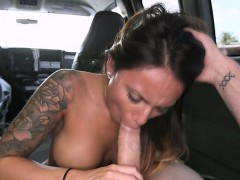 Juicy butt latina Natalia Mendez banged hard on the bus