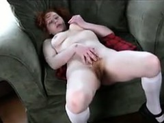 cute-redhaired-girl-with-a-bush-fingers