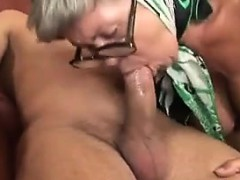 busty granny poking with a young dude granny sex movies