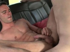 Muscled Gay Ass Drilled On The Bus Backseat