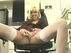 blonde-secretary-masturbates-with-a-vibrator