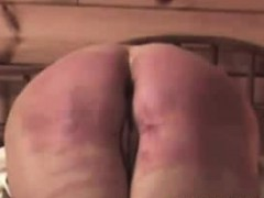 spanking-my-slave-a-real-soar-and-red-butt