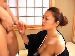 Japanese Av Model Gets Cum From Sucked Boner After Strong