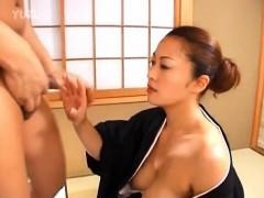 Japanese Av Model Gets Cum From Sucked Boner After Strong