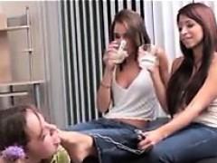 Cute Lesbian Slave Worshipping Feet