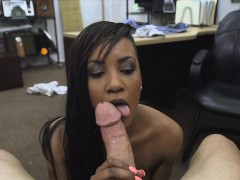 Sexy black chick getting her pussy fucked