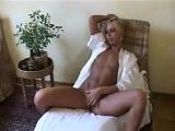 Slender Blonde Chick Rubs Her Loose Pussy