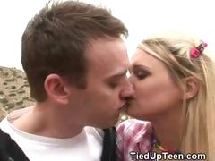 blonde-teen-sweetheart-gagged-tied-up-and-stripped-outdoors