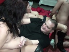 German Group Sex In Swinger Club With Milf And Boys