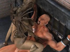 foxy 3d cartoon alien babe fucking a penis outdoors