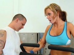 Busty Blonde Gets Fucked Hard in the Gym!