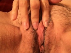 Horny fledgling granny playing with her vagina.