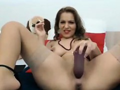slut-smokes-and-uses-a-thick-dildo