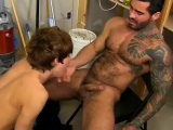 Male fitness models in gay porn twink and tall hunk daddy Ky