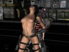 3d cartoon babe gets nailed outdoors by a zombie sexy