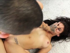 Latina Michelle Martinez Is Manhandeld By Rough Guy