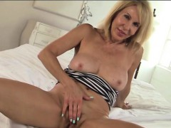 Erica Lauren Hot Milf In Striped Dress