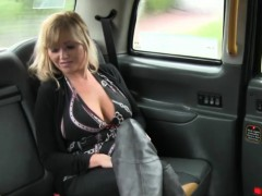 Amateur big titted blonde woman gets fucked by the driver