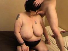 Grandma With Huge Boobs Sucking Cock