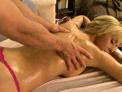 Babe Is Giving Hunk A Hard Boner As That Guy Massages Her