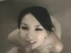 asian girl gf gets a massive facial!