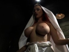 tattooed-bigtit-nun-getting-fingerfucked