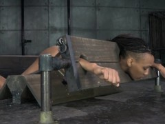 bound-black-sub-in-yoke-toyed-as-punishment