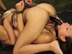 Magnificent Babes Bibi And Callie Share Bondage Expirience