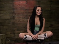 Chained Teen Rides Sybian