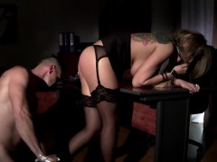 Blonde Bitch Gets Tied Down And Rammed