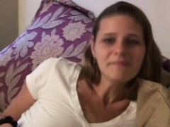 Amateur Retro Babe Cockriding Before Cumshot