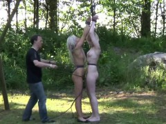 inverted double slapping for slaves red buttocks